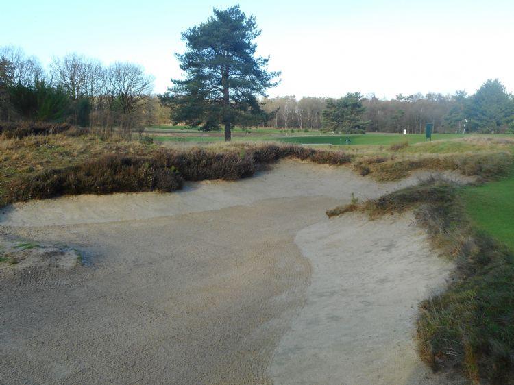 Een greenside-bunker op De Hoge Kleij