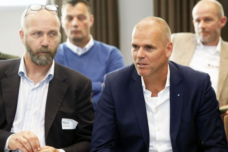 Links Nico Willemsen (Cumela), rechts Ben Moonen (BSNC).