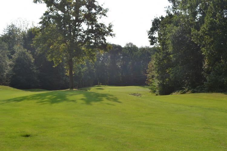 De Limburg-course ligt in een meer bebost gebied.