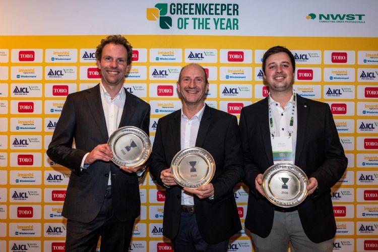 De genomineerden op een rij: Nicolas de Schutter, Allan Salmond en Jef Reynders