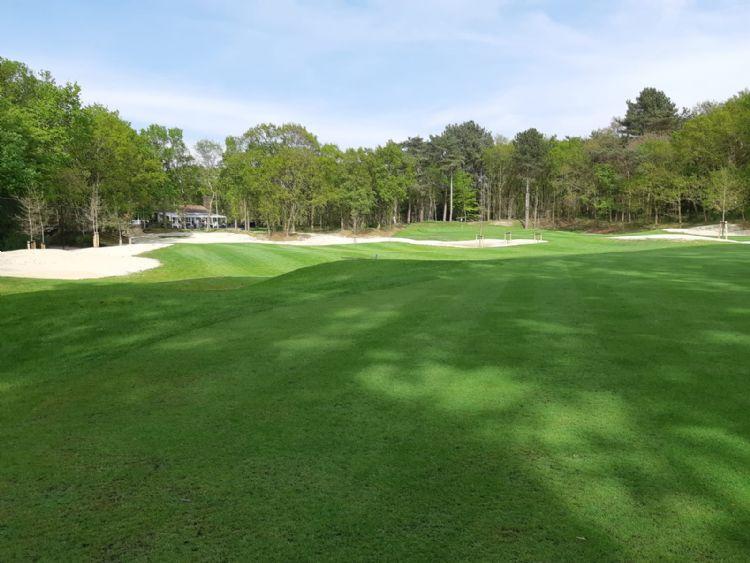 De nieuwe hole 9 op Golfclub Duinzicht.