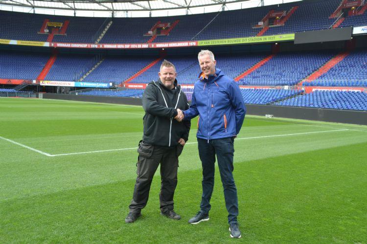 Fieldmanager of the Year Erwin Beltman en Greenkeeper of the Year André van der Woude.