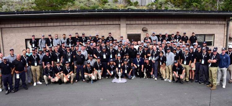Het greenkeepersteam voor het US Open 2019.