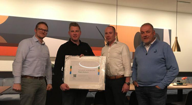V.l.n.r. Martin Uittenbosch, Bram Megens, Eric van Susante en Jan Plooij.