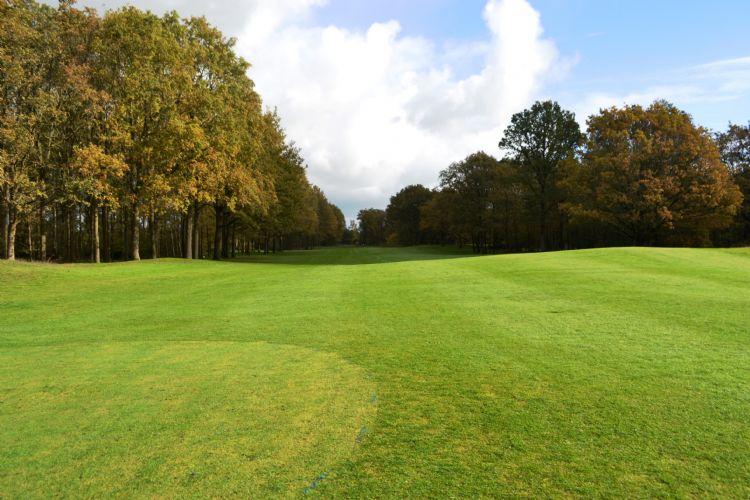 Golfbanen liggen er momenteel verlaten bij.