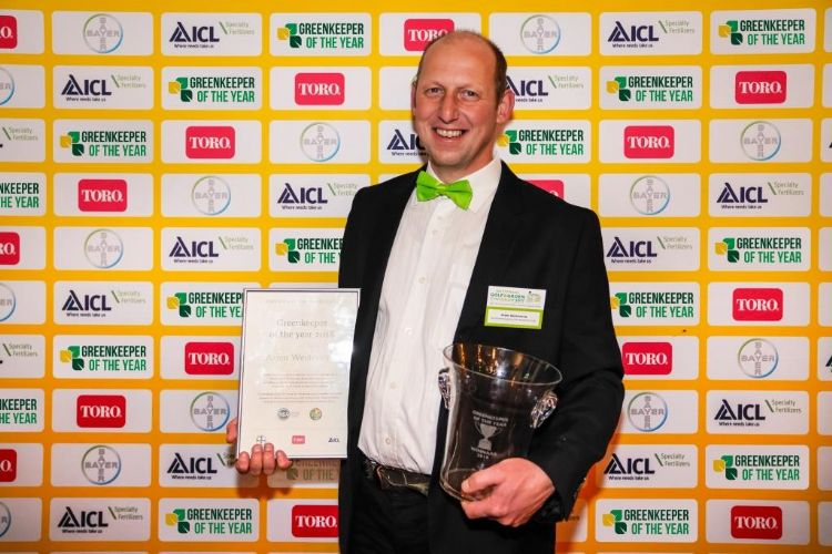 Arjen Westeneng was in 2018 Greenkeeper of the Year.