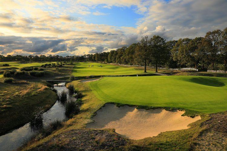 Hole 9 op Bernardus Golf
