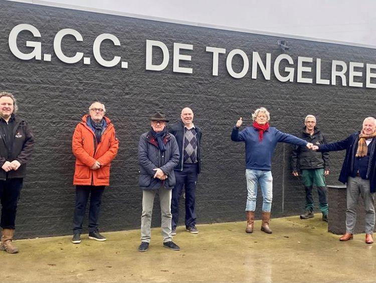 V.l.n.r. Patrick Graafmans (de Enk), Joop Mikkers (baancommissie), Ton van Daal (baancommissie), Ton de Bonouvrie (baancommissaris/bestuurslid), Peter v.d. berg (voorzitter), Peter Coppens (de Enk) en Gerard v.d. Werf (de Enk).