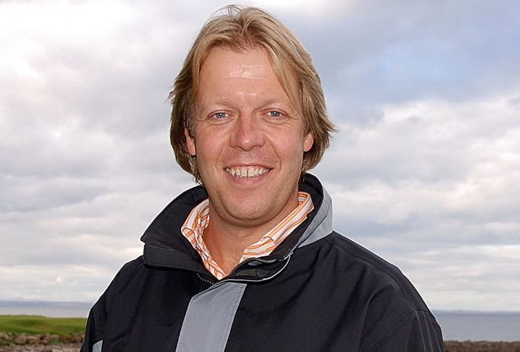 Archieffoto uit 2008: Peter Klerkx op The Castle Course in St.Andrews